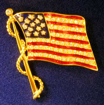 David Mann Flag Brooch